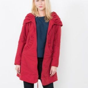 Prairie Underground Long Red Rain Cloak S